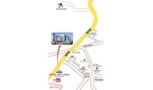 Location-Map-World-Tech-Park-Offices-In-Gurugram